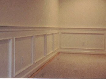 Crazy but how do i install hardwood flooring on wall for Examples of wainscoting